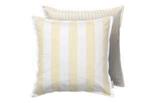 Cotton Cottage pude stribet yellow 50x50 cm fra Cozy Living