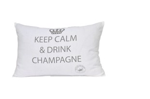 Keep calm pude hvid med tryk 45x35 cm
