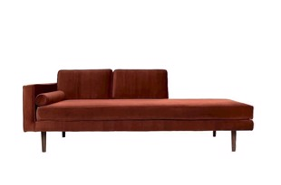 Wind chaiselong sofa caramel cafe fra Broste